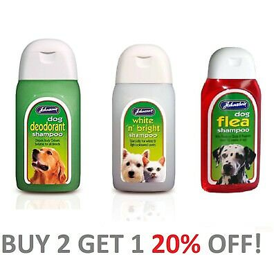 Johnsons Dog Shampoo Range. 200 ml Bottles  ***SPECIAL OFFER****