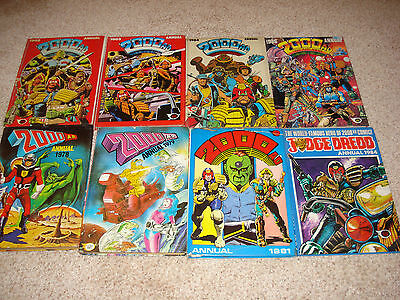Collectable Annuals  2000Ad Featuring Judge Dread  1978-1986  Quantity Of 8