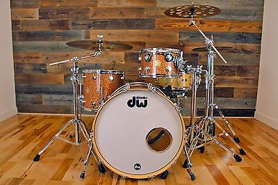 Dw Collectors Series Ii 3 Piece Maple Drum Kit Champagne Glass Finish Ply