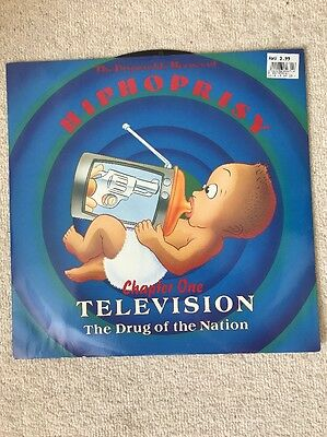 """Disposable Heroes Of Hiphoprisy 12"""" Vinyl Television The Drug Of The Nation"""