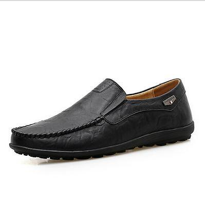 Men's Driving Casual Boat Shoes Leather Shoes Moccasin Slip On Loafers 10