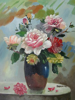 "Newport Flowers Original Hand Painted 8""x10"" Oil Painting Floral Art"