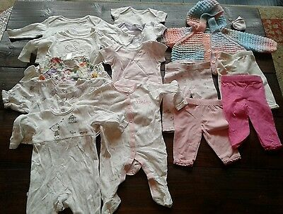 Lovely baby girls bundle 14 items 0/3 - 3/6 months Next/Mothercare/Adams