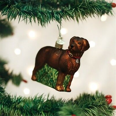 Standing Chocolate Lab (12508) Old World Christmas Ornament
