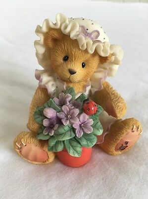 Cherished Teddies: Violet, Blessings Bloom When You Are Near