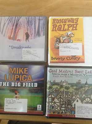 Audio Books - Lot of 4 - Runaway Ralph, Breadcrumbs - ex library