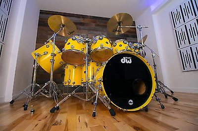 Dw Collectors Series Ii Birch 9 Piece Drum Kit, Canary Yellow Custom Lacquer