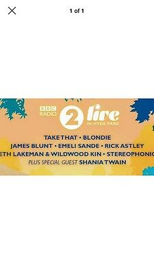 Radio 2 Hyde Park Live 2017 (TWO TICKETS AVAILABLE. £200 EACH)
