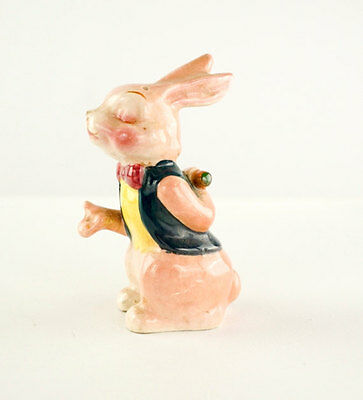 Vtg Pepper Shaker Bunny Rabbit Figurine Hand Painted