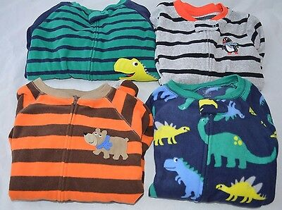 Lot Of (4) Carter's Boys Size 5t One Piece Footie Pajama Sleepers