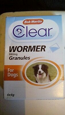 Bob Martin Clear Wormer Granules Worms Treatment For Dogs..... 1 sachet .....