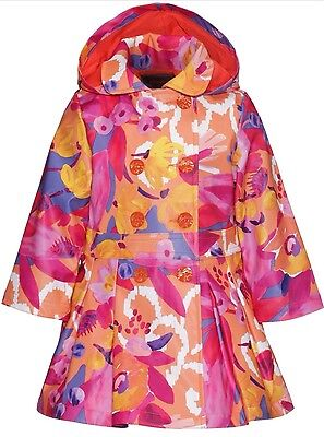 Catimini Girls Hooded Multicoloured Coat 8yrs Catamini ❤Gorgeous ❤