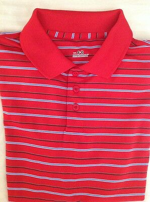 Boys Under Armour Youth XL Red  Striped Polo