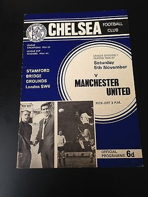 Chelsea V Manchester United 1966/67 Programme Title Winning Year Exc Condition