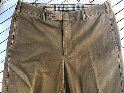 Burberry Cotton Khaki Brown Chinos W34 L34 Vgc