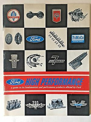 1966 Ford High Performance Guide 39 Pages Original