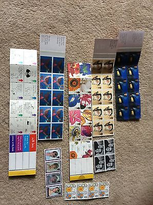 Five Books Of 10 First Class Stamps + 12 Royal Stamps