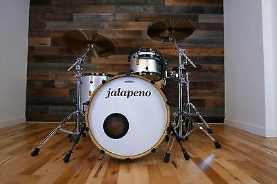 Jalapeno Classic Series 3 Piece Custom Drum Kit Silver Sparkle (Pre-Loved)