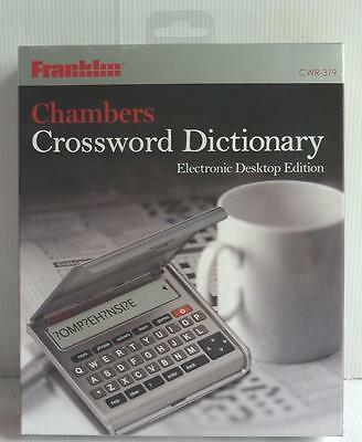 Franklin Chambers Electronic Desktop Edition Crossword Dictionary, Cwr-319, New