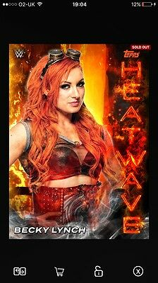 Topps WWE SLAM Orange Heatwave Becky Lynch