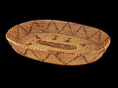 "Pima Basket Tray  10""   Fresh California Estate Find"