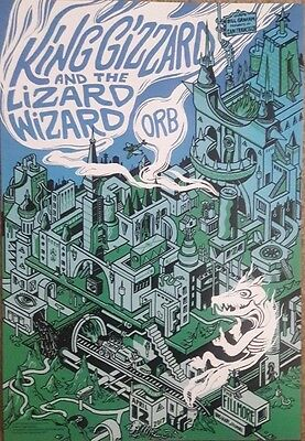 King Gizzard and the Lizard Wizard Fillmore Poster 17 Orb