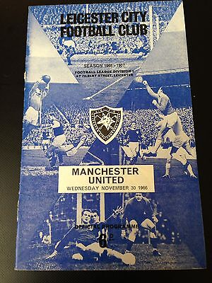 Leicester V Manchester United 1966/67 Programme Title Winning Year