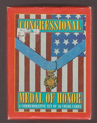 Congressional Medal Of Honor Trading Cards 1993 Boxed Set Of 36 Complete Set