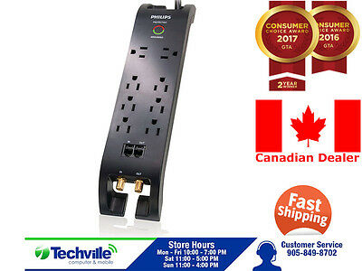 Philips Surge Protector With Cable Management 4ft - Brand New In Box