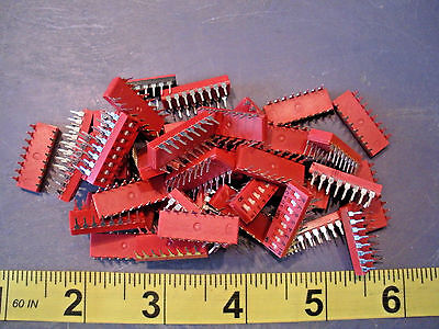 C&K SDA08 DIP Switch Lot of (40) units/pieces Flat Actuator 8-Position New