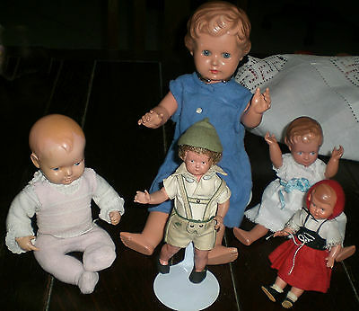Old Dolls  - Lot Of Five