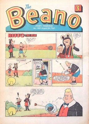 THE BEANO - 5th AUGUST 1967 (3rd - 9th August) - RARE 50th BIRTHDAY GIFT !! VGC