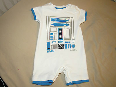 Baby Boys R2-D2 Romper Size 3-6 Months