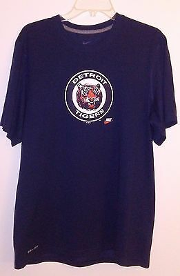 cheap for discount 93c81 a27d1 100% Authentic New, Nike, Detroit Tigers Drifit Tee Shirt, Med, Blue