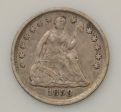 1858-P Seated Liberty Silver Half Dime *G88