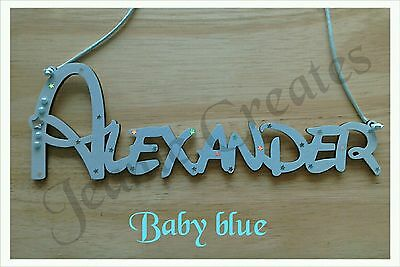 SET PRICE Child Kids Wall Door Wooden Name Plaque Gift Any Name/Colour