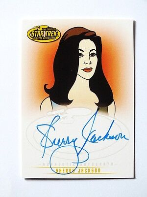 STAR TREK Animated Series Autograph Signed Card Sherry Jackson A22