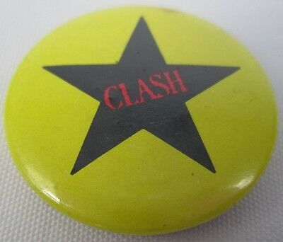 The Clash Vintage Circa 1980 Official CBS Star Badge Pin Button Punk New Wave