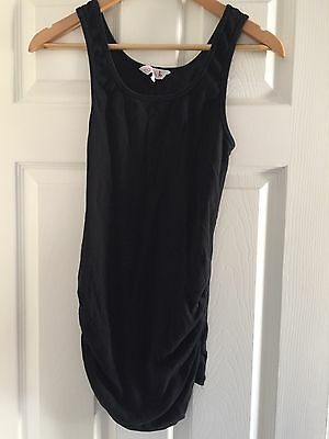 Black Maternity Vest Top Size 12