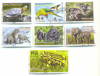 Australia-Endangered Wildlife-fine used set-2016