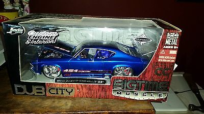 Jada 1969 Blue Chevy Chevelle SS Bigtime Muscle Scale 1/24 Diecast Car