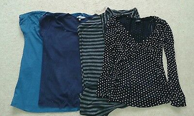 Bundle of maternity tops size 8-10