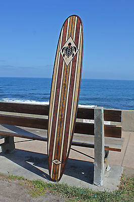 Wood Surfboard Bar Top Shower Vintage Hawaiian Turtle Wall Art Surf Decor tribal
