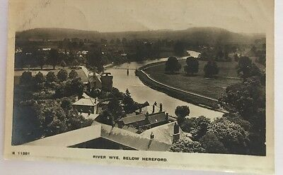 Vintage Postcard. Hereford River Wye - Posted in a storage.boutique sleeve