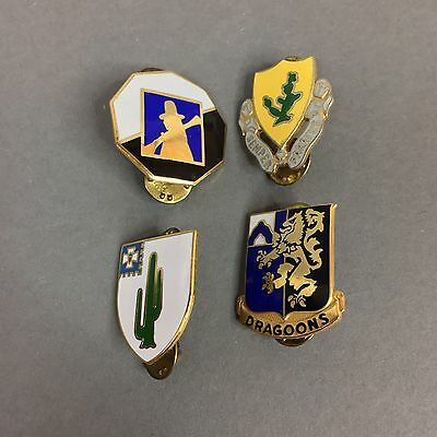 Lot of 4 Vintage US Army Military Insignia Pins Infantry Regiment