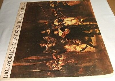 "1966~~Large Book~~""100 Of The World's Most Beautiful Paintings"""