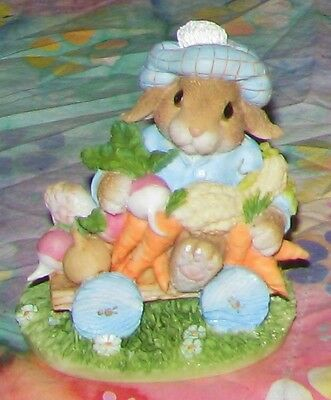 1995 Enesco My Blushing Bunnies AN ABUNDANCE OF BLESSINGS Figurine 157015
