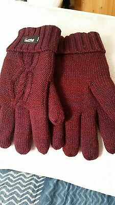 Ladies Knitted Thinsulate Thermal Winter Gloves
