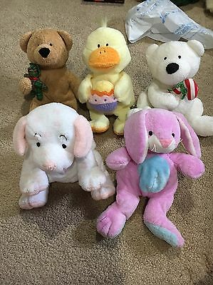 Ty Pluffies Lot Of 5 Holiday Pluffies Great Condition