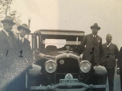 Vintage 1920's 1930's Photgraph Antique Cars and Mafia Looking Men